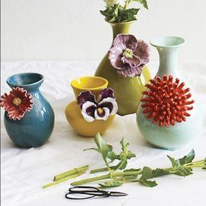 Anthropologie blue 6'' flower vase